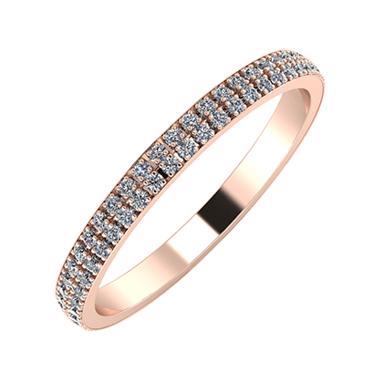 Alóma 2mm 14-Karat Rose Gold Ehering