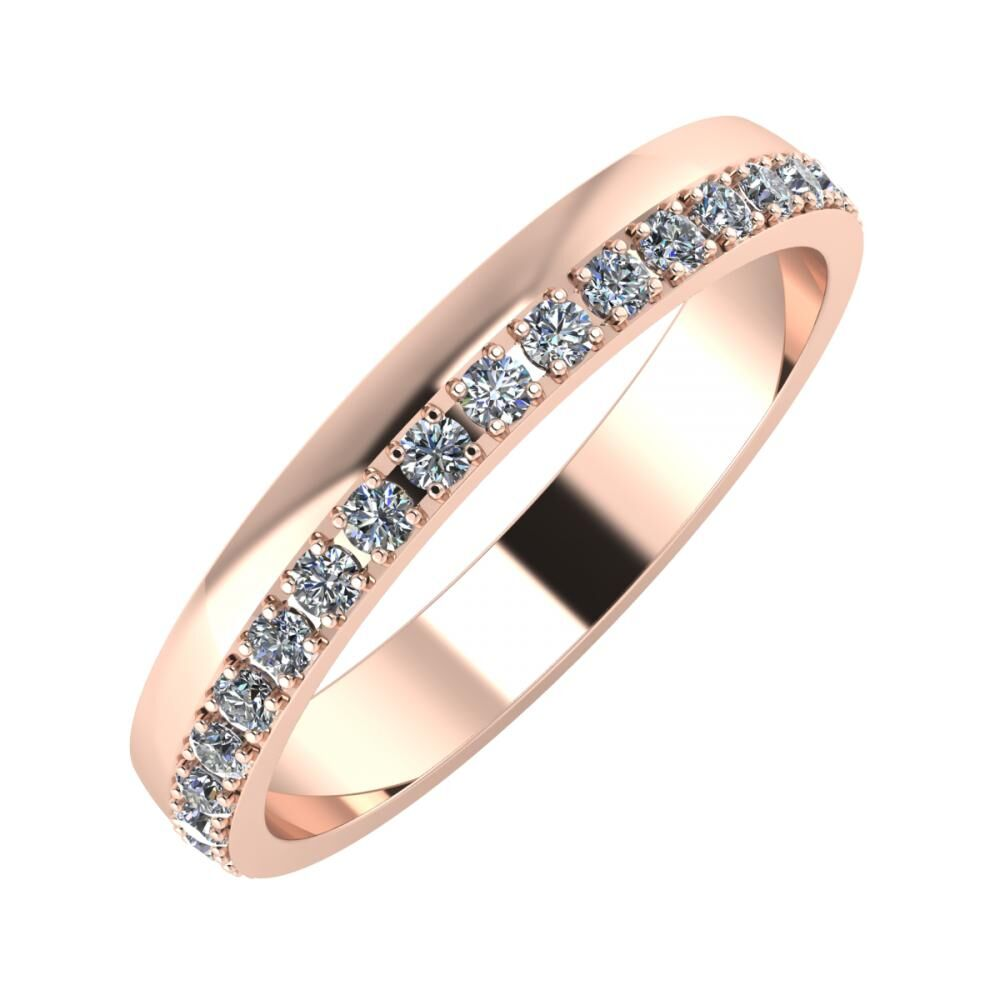 Ama 3mm 14-Karat Rose Gold Ehering