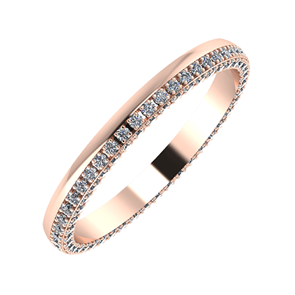 Aloma 2mm 14-Karat Rose Gold Ehering