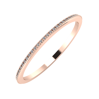 Alóma 1mm 14-Karat Rose Gold Ehering