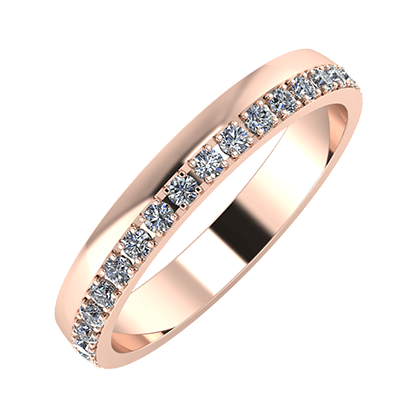 Ama 3mm 18-Karat Rose Gold Ehering